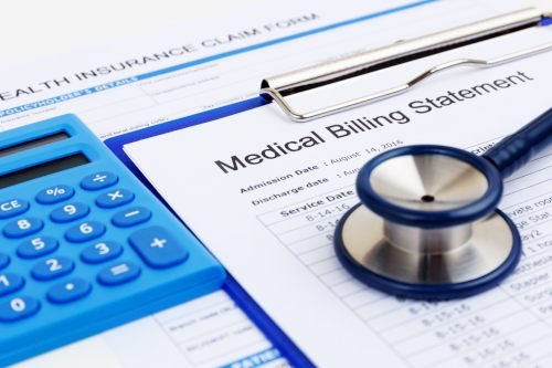 medical billing statement paperwork after a workers' comp claim